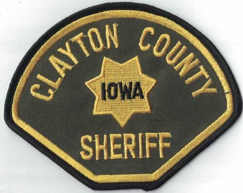 Clayton County Sheriff  Patch Iowa IA