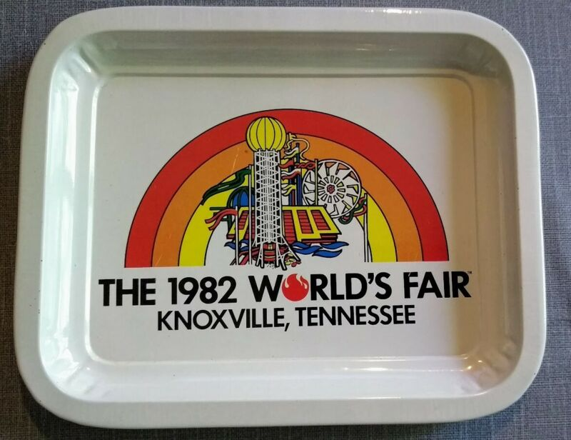 Vintage Official 1982 World Fair Metal / Tin Tray Souvenir Knoxville, Tennessee