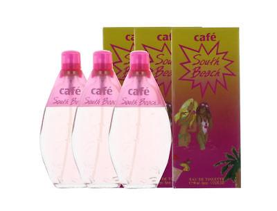 Beach Edt Spray (South Beach by Cafe Parfums for Women Combo Pack: EDT Spray 9oz (3x 3oz) New)