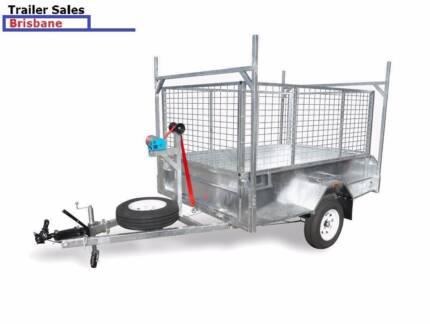 Brand New Trailer  8 x 5 caged 1400kg HD trailer - 1500 drawbar