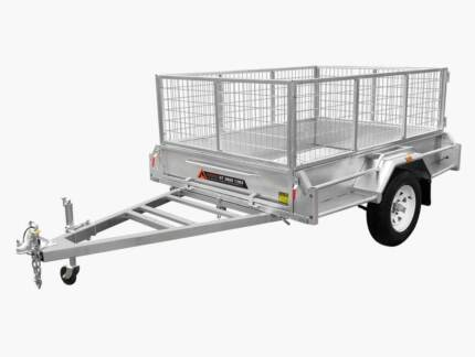 7 X 4 GALVANISED BOX TRAILER WITH MESH CAGE Tamworth Tamworth City Preview