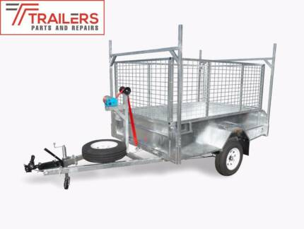 New 8x5 Galvanised Tipping Box Trailer, 1400kg ATM, 600mm cage Currumbin Waters Gold Coast South Preview