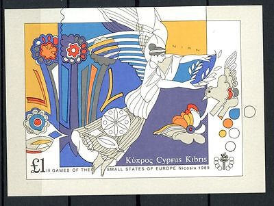 Cyprus 1989 SG#MS739 Small European States Games MNH M/S #A34522A
