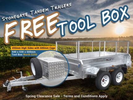 FREE Tool Box 10x5, 10x6 Cage Trailer | FREE Cage | Heavy Duty