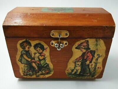 Vintage BOX with folk Birds  Russian Treasury Box  Small Chest  Jewelry Box  Made in USSR  Folk Bird Motifs