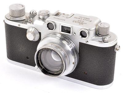 Leica IIIc Nr.370534 red curtain + Leitz Summar 5cm 1:2 Nr.387658 TOP & CLEAN !