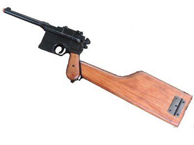 Denix 1896 C96 Mauser Replica with Wooden Stock