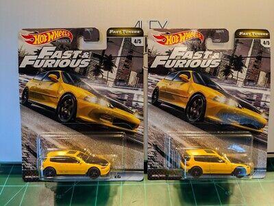 2020 Hot Wheels Fast & Furious Fast Tuners Honda Civic EG. Lot of 2.