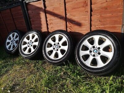 R16 5x120 BMW Genuine e87 1 series Style 151 alloy wheels +continental tyres