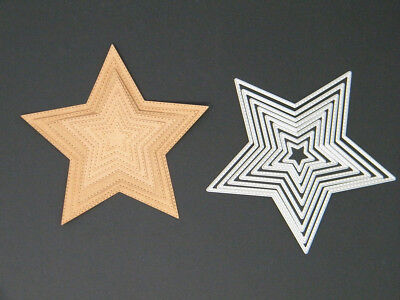 Metal Die 8 Star Nest with Stitched Edge Detail (UK)
