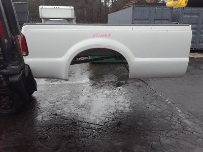 Used, Q   # MCWHLB WHITE FORD F250 8 FT. LONG TRUCK BED BOX  99-10  LWB super duty for sale  Lawrenceville