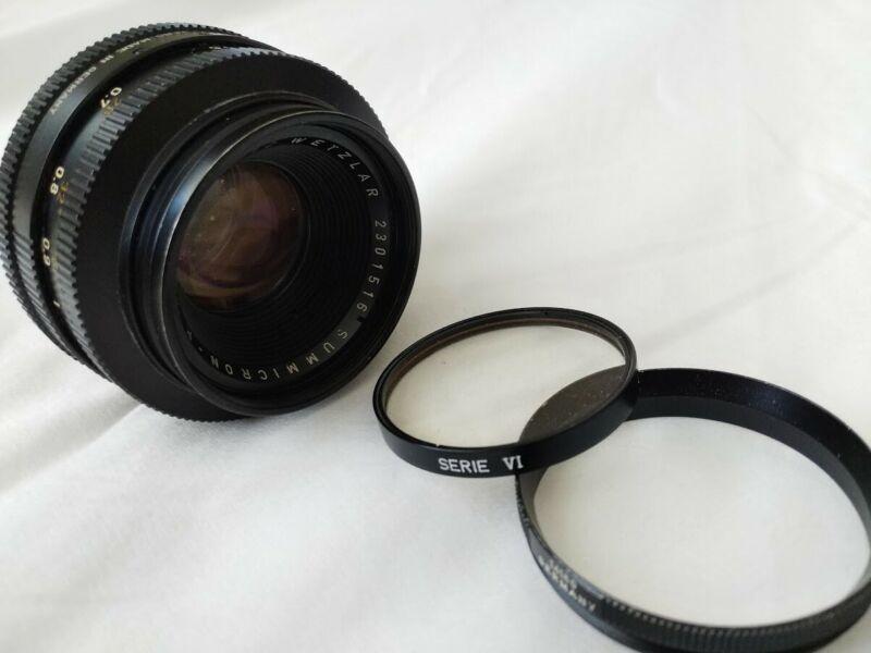 LEITZ WETZLAR GERMANY SUMMICRON-R 1:2 / 50mm LENS Leica R
