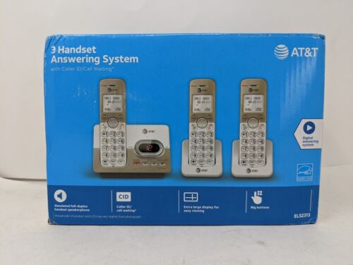 AT&T EL52313 3-Handset Expandable Cordless Phone Answering System