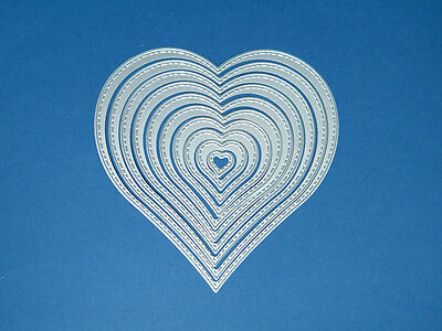 Metal 10 Die Heart Nest with Stitched edge Scrapbooking & Cardmaking (UK)