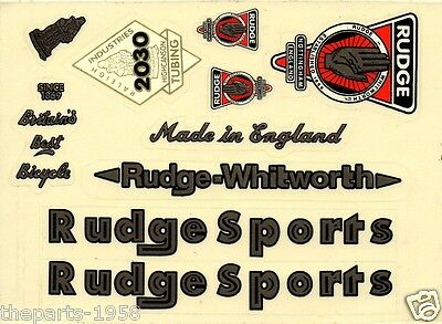 1X RUDGE SPORTS WHITWORTH VINTAGE BICYCLE BIKE STICKER DECAL FREE SHIPPING