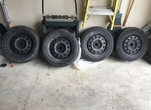 Winter rims with used tired 80 OBO