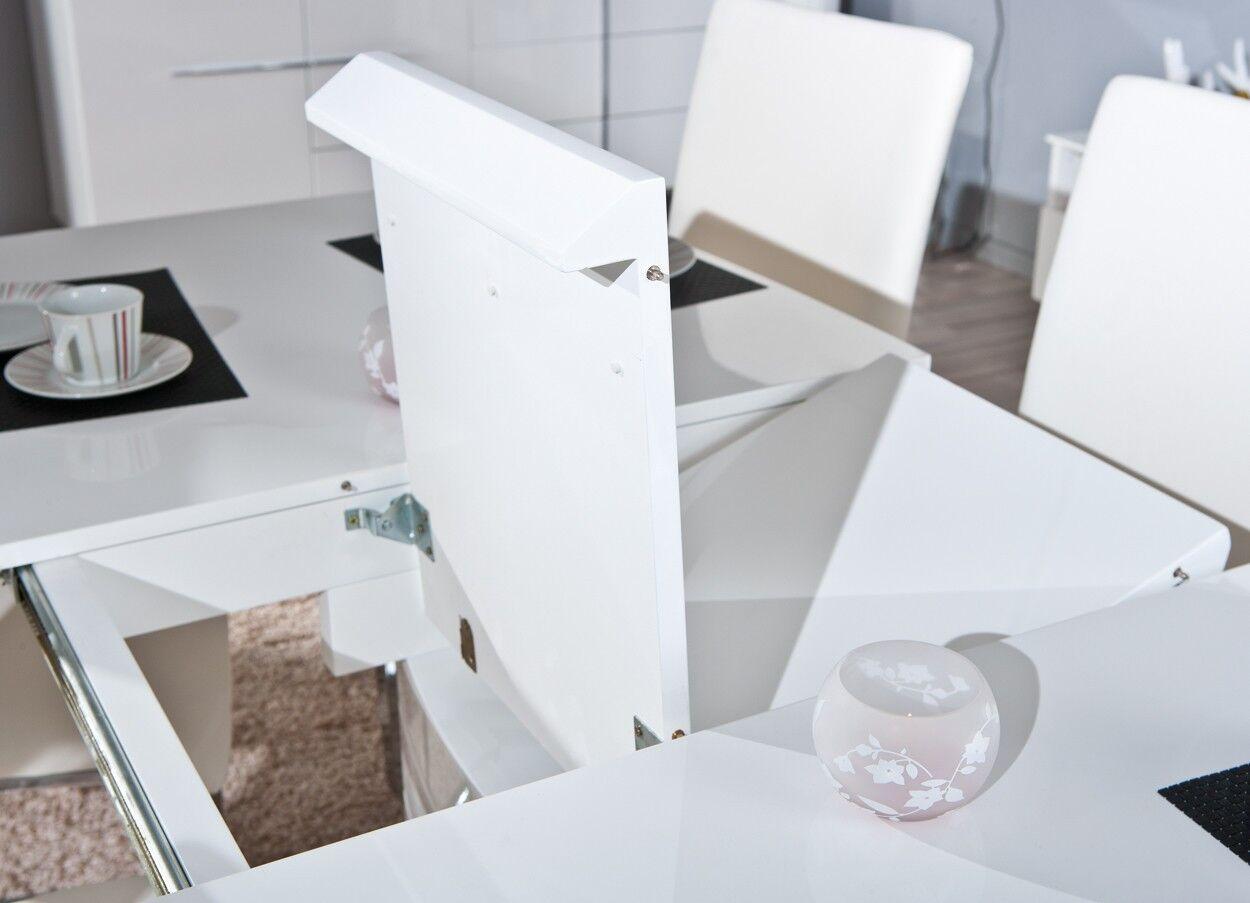 Tisch Esstisch Küchentisch Modern Hochglanz ausziehbar ...