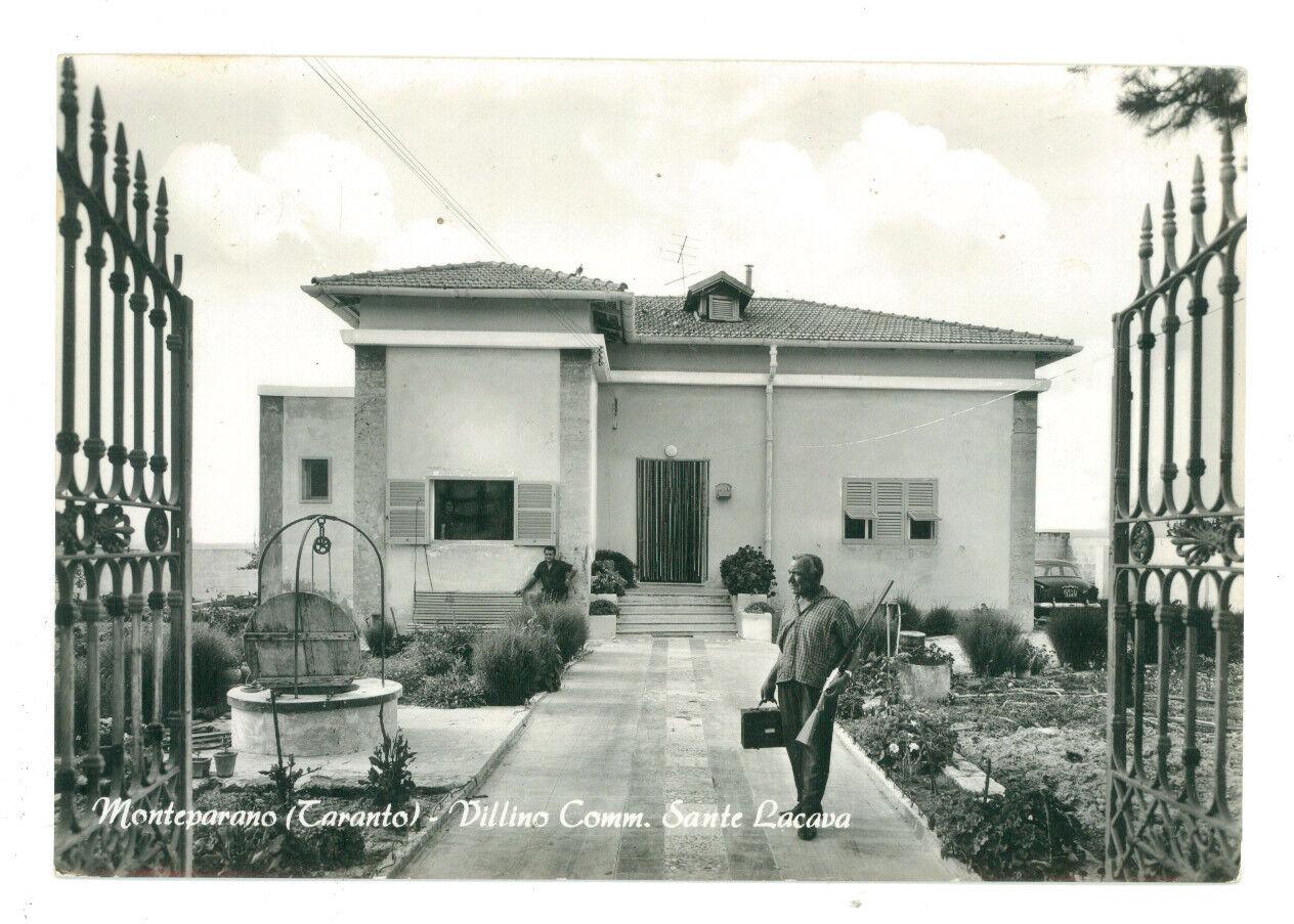MONTEPARANO VILLINO COMM. SANTE LACAVA TARANTO VIAGGIATA 1965 PUGLIA UOMO FUCILE
