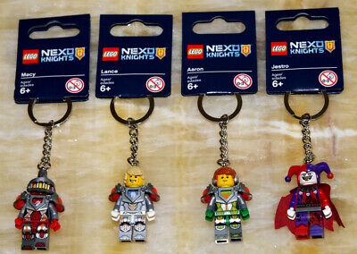 🌟 Lot of 4pcs LEGO New Nexo Knights Key Chains ✨ Macy, Lance, Aaron & Jestro
