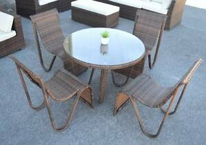 LISBON OUTDOOR 5 PIECE DINING SET (WAS $1299) O'Connor Fremantle Area Preview