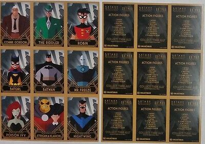 SDCC Comic Con 2016 Handout BATMAN The Animated Series  The New Batman Cad Sheet