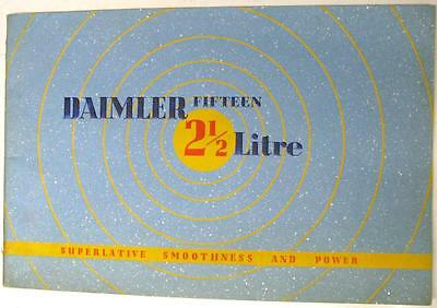 DAIMLER Fifteen for 1939 Original Car Sales Brochure 1938 #C1539/10M/838