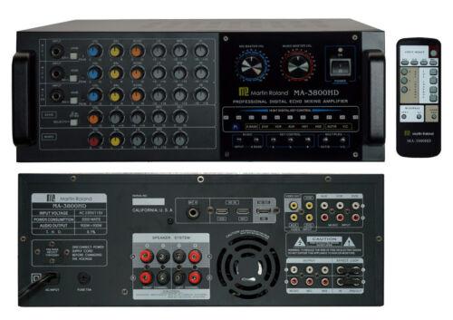 Martin Ranger MA3800HD HDMI Mixing Amplifier for Chromecast and YouTube Karaoke!