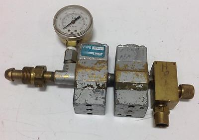 Linde Gas Regulator Flow Meter R-502 Pzb