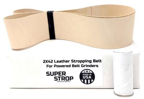 2X42 inch Super Strop Leather Honing Strop Belt fits 2x42 Belt Sanders