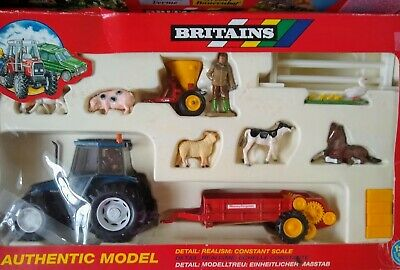 Britains Masey Ferguson Tractor And Farm Set In Box From My Fathers Collection
