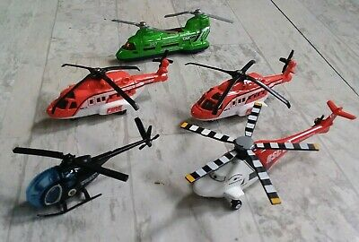PLAY HELICOPTER LOT MATCHBOX MATTEL TRANSPORT MISSION & RESCUE SQUAD CHOPPER