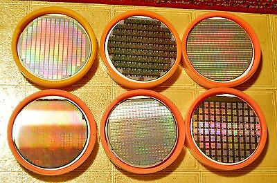 6 inch silicon wafer - One vintage wafer from the 1980s or 1990s
