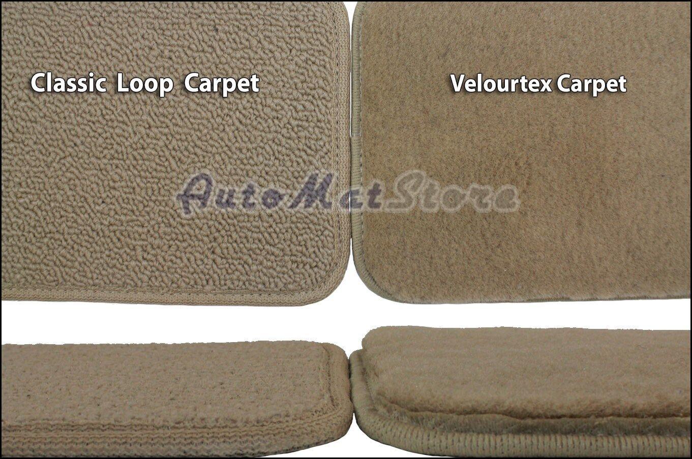 ::2006-2011 Cadillac DTS 4pc Velourtex Carpet Floor Mat Set - Choose Color & Logo
