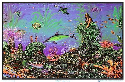 Octopus Garden by: Michael Fishel Blacklight Poster - Flocked - 35