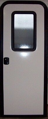 RV ENTRY ENTRANCE DOOR,LOCK, 26.5 X 72 CAMPER CARGO HOUSEBOAT TINY HOUSE # 6