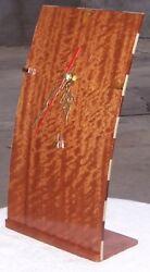 Handmade Real Wood Clock! BIG RED! Full Size. Brand New! Anniversary, Birthday+