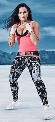 New Nwt Fabletics Tv Demi Lovato Anna High Waisted Leggings Graffiti Print L 10