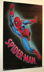 SPIDERMAN POSTER FROM 1989 MARVEL COMICS VINTAGE AND RARE!