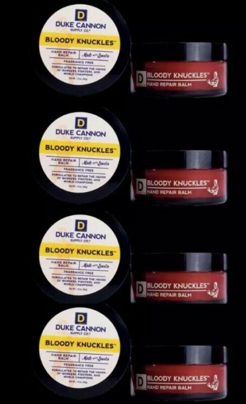 Duke Cannon Mens Hand Cream Bloody Knuckles Hand Repair Big 5oz Lot 4 Made USA