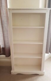 Solid White wooden bookcase