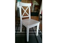 Ikea Ingolf white kitchen dining chair