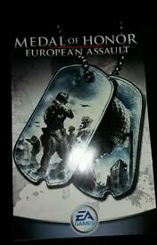PS2 playstation 2 game booklet - Medal of Honour European Assault . GC