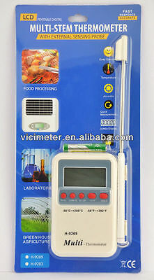 Usa Seller Digital Multi-stem Thermometer For Grillbbq Kitchen Cooking Probe