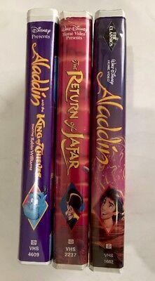 Walt Disney Aladdin I, II, III Vhs 3 Piece Set Collection Vintage Classic