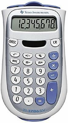 Texas Instruments Silver White Portable Desktop Calculator with Ergonomic Grip
