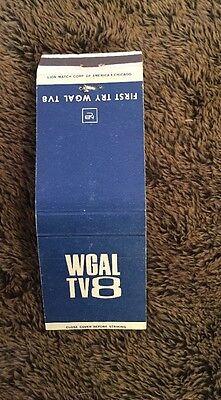 Vintage Matchbook Cover Matchcover Wgal Tv 8 Unstruck