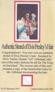 Elvis Presley Authentic Hair Strand Homer Gilleland CERTIFIED MUSEUM PROVENANCE