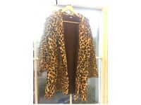 Sumptuous leopard print coat