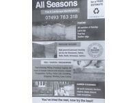 Allseasons garden and rubbish removals same day jobs done