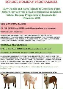 Farmtastic School Holiday Programmes PONIES 7/12, 20/12, 21/12 Guanaba Gold Coast West Preview